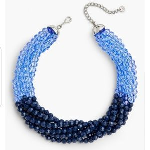 Talbots multi strand necklace in navy & blue